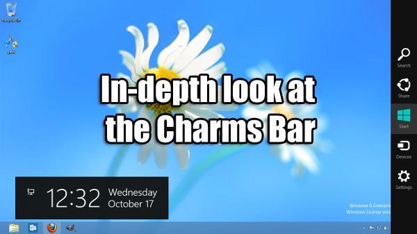 Charms bar