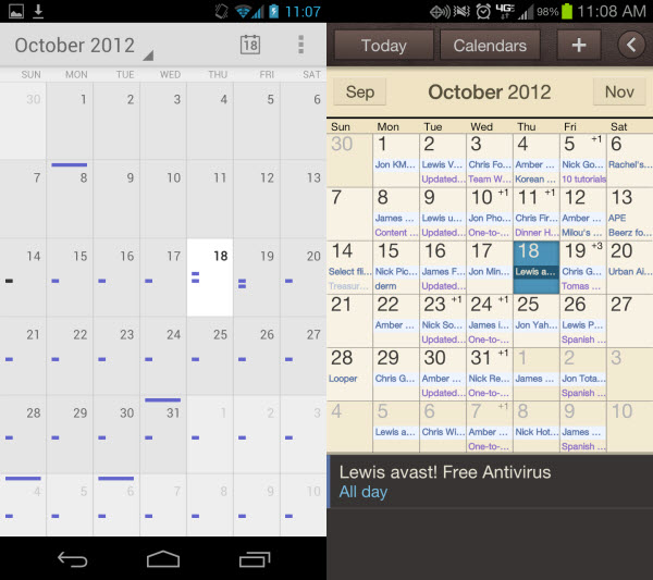 Google Monthly Calendar : Google releases calendar standalone app