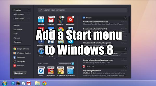 Windows 8 guide start menu