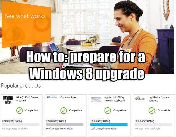 prepare for Windows 8 upgrade