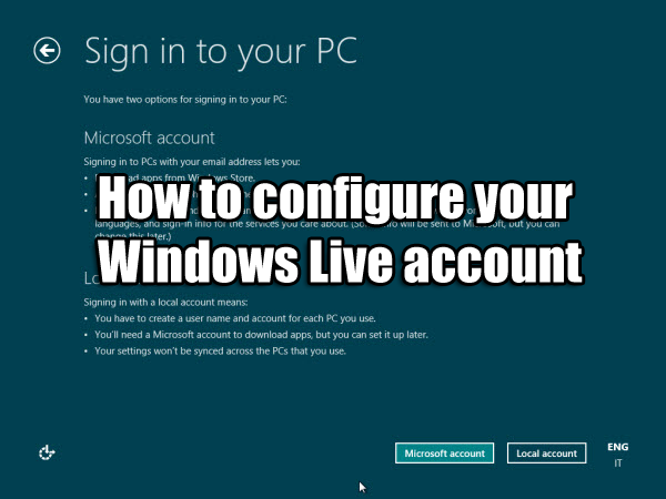 configure windows account
