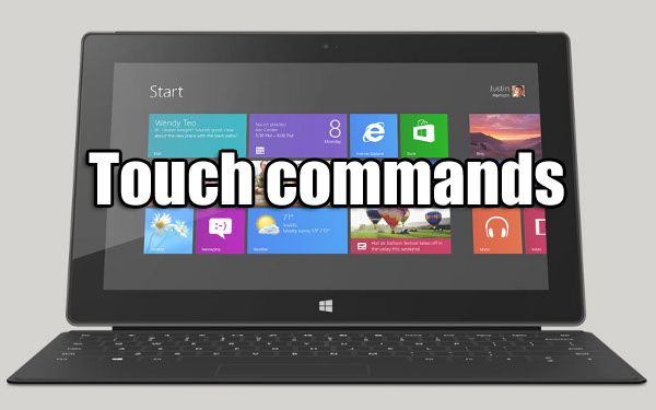 touch commands