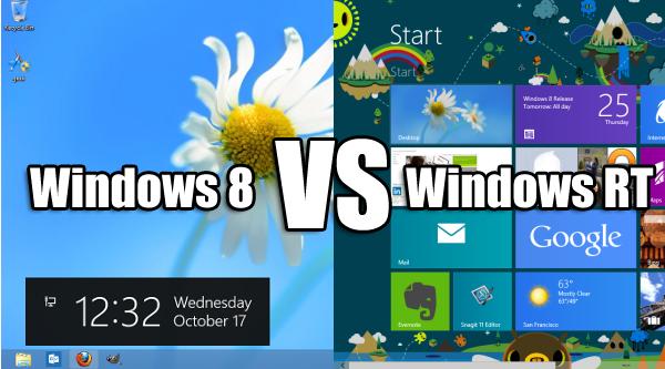windows 8 vs windows RT