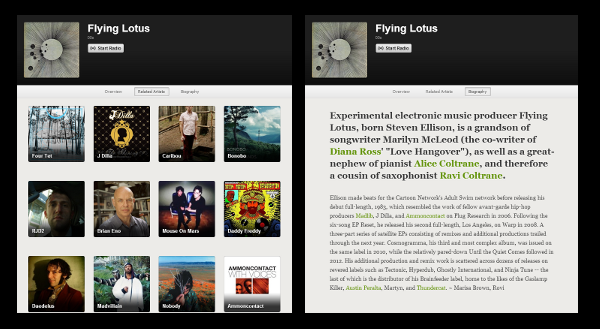 related artists and bio