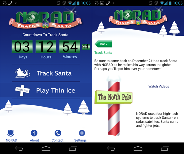 Track Santa s progress with NORAD and Google