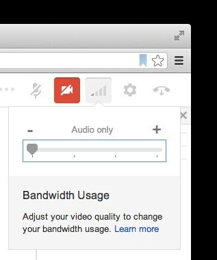 google hangouts bandwidth usage