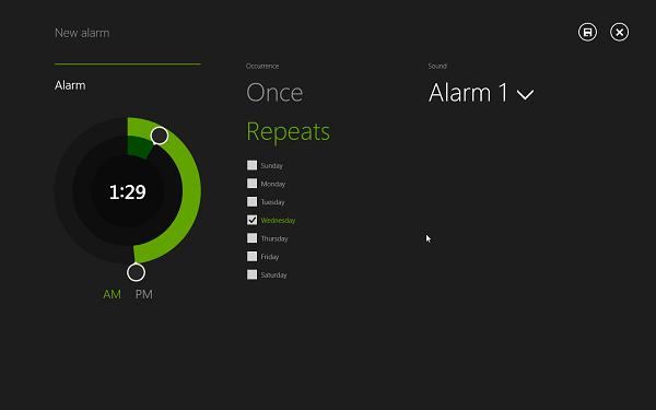 Windows blue alarm