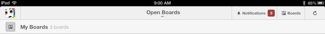 trello ipad notifications