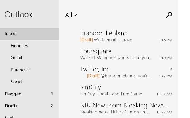 win 8 mail app update