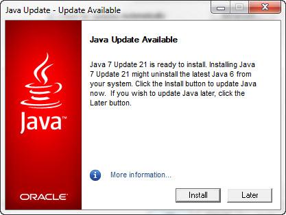 java version 7 update 12