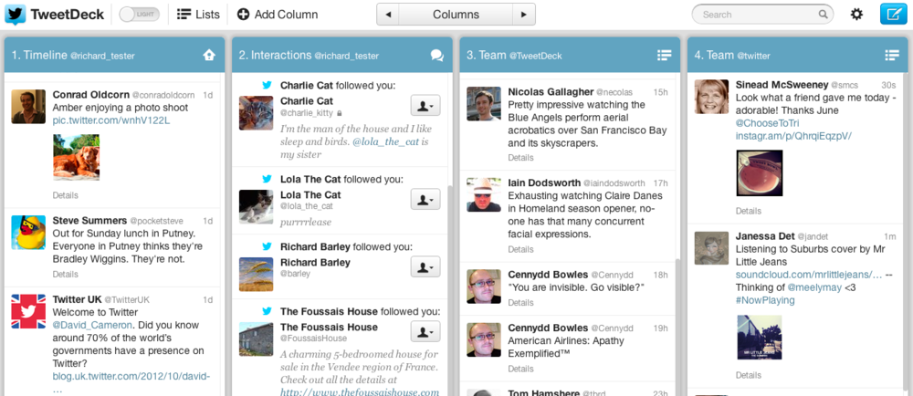 tweetdeck light theme