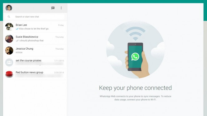 WhatsApp for Web header