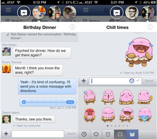 facebook for ios chat heads