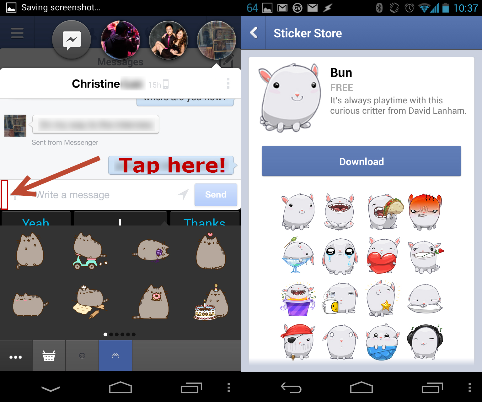 Facebook Messenger for Android has hidden stickers