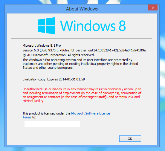 windows 8.1 blue