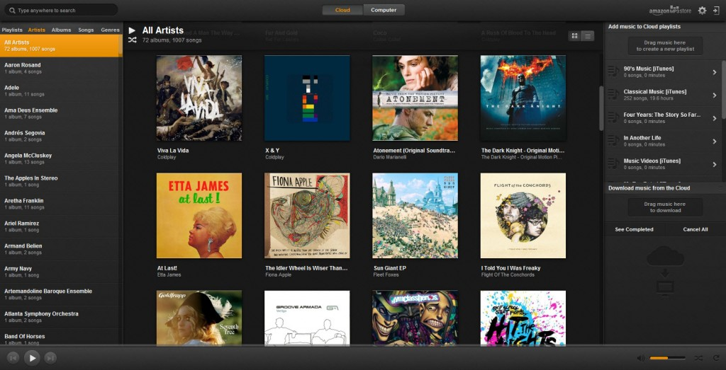 Amazon releases Amazon Cloud Player for PC, Mac version