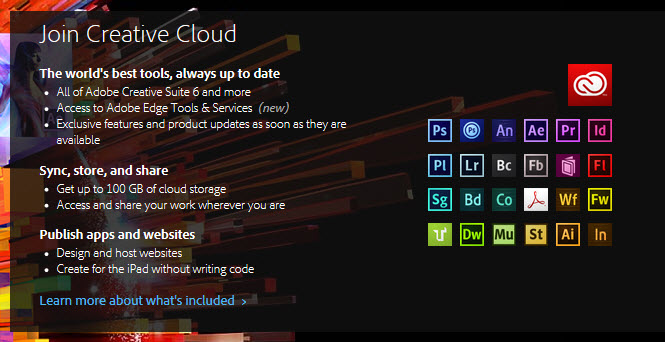creative cloud products