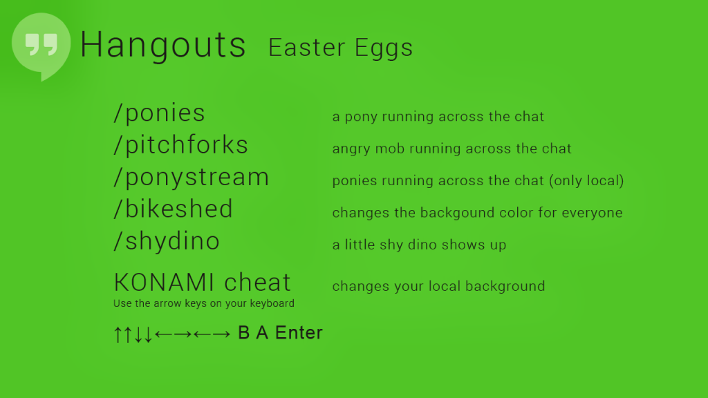 google hangouts easter eggs lets you change background colors release ponies