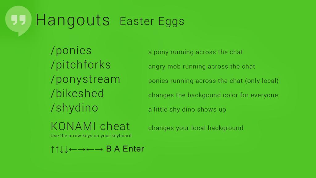 hangouts Eastereggs