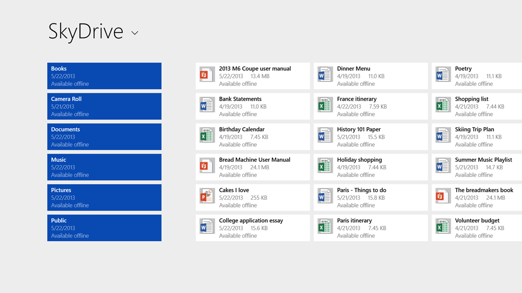 SkyDrive changes