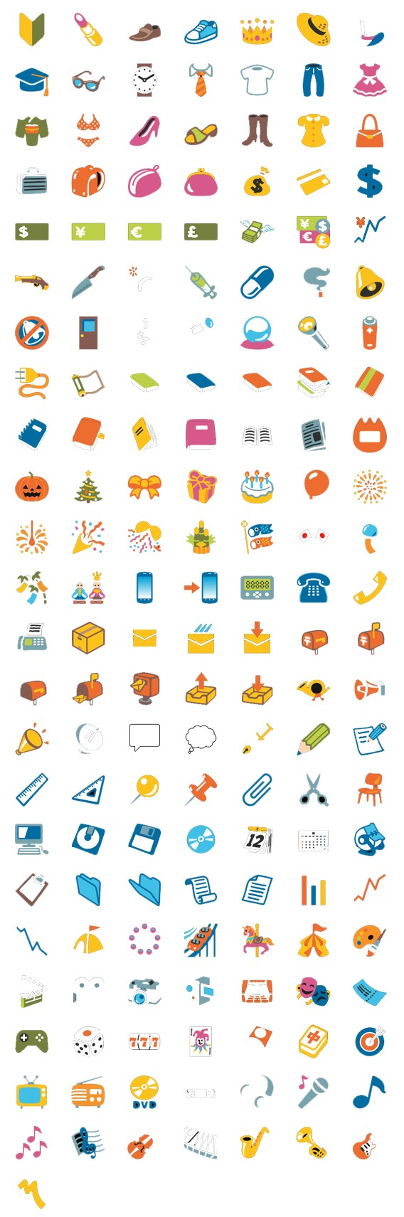 New emoji and emoticons for google hangouts 2 everyday objects events and parties buycottarizona