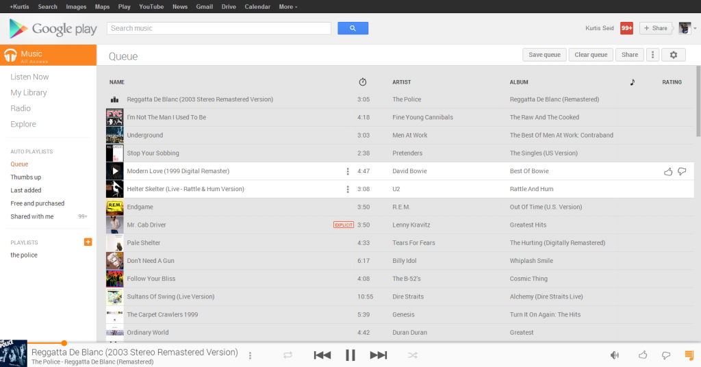 google music player