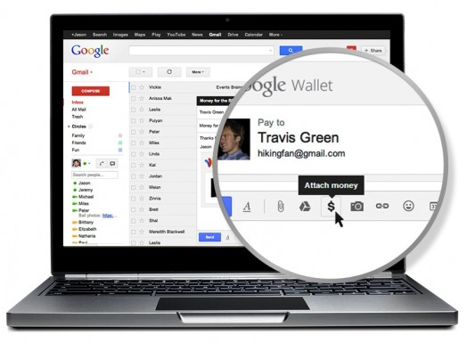 send money google wallet gmail