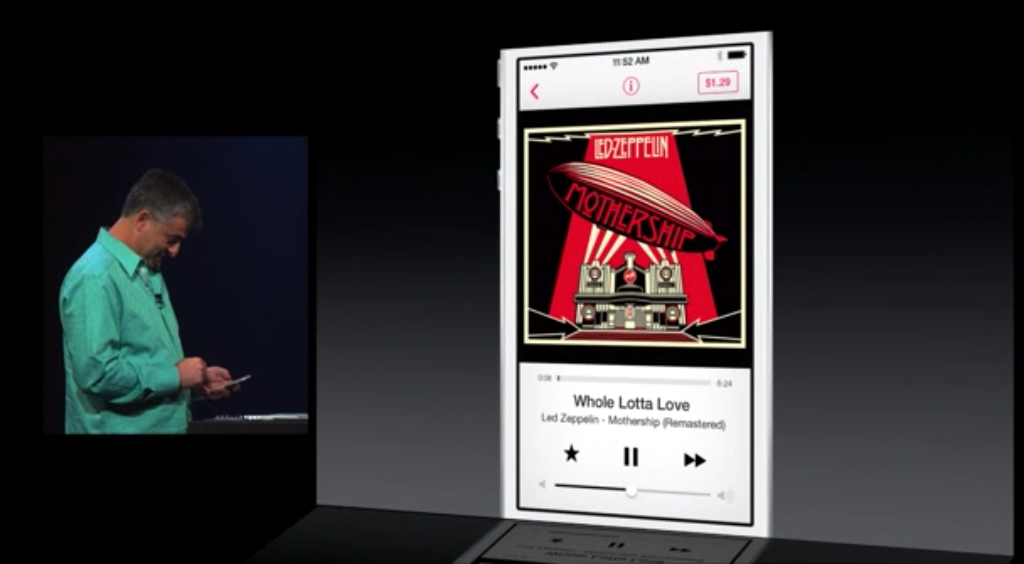 iOS 7 updated music app