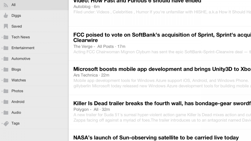 Digg for iOS updates with Digg Reader support