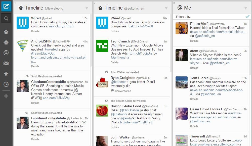 tweetdeck redesign