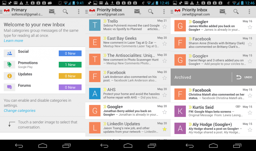 android gmail