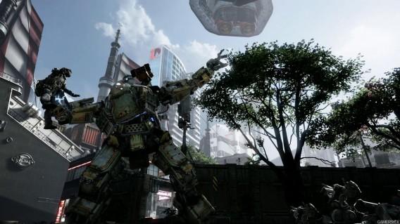 Titanfall - Titan throws pilot