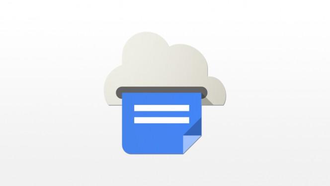 google cloud print header