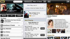 IMDb for Android and iOS updated, US users now have in-app movie ticket purchases