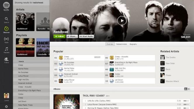 spotify radiohead