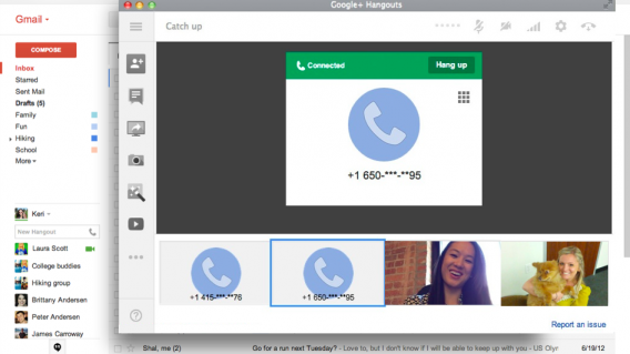 google hangouts calling
