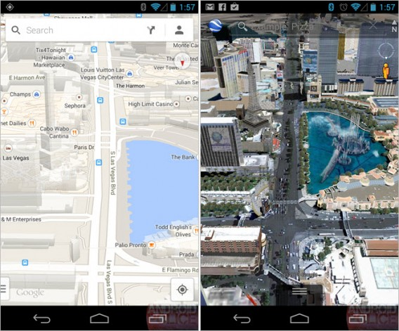 Android police google maps comparison
