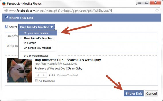 how to post animated gifs to facebook