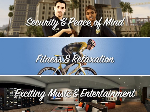 Security, Fitness, Entertainment GTA V