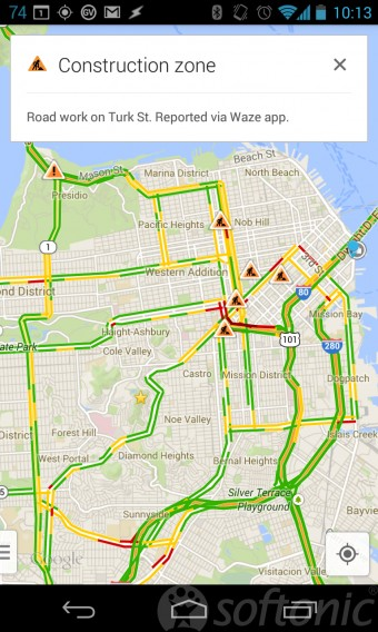 google maps waze traffic
