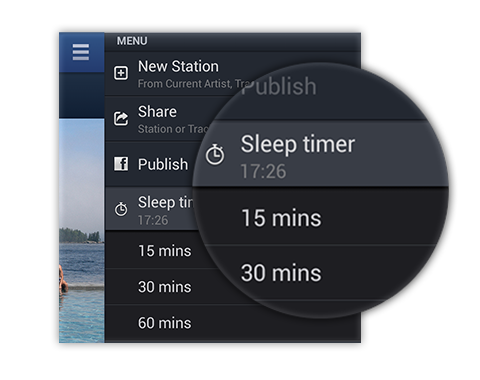 Pandora Android, iOS apps updates with sleep timer