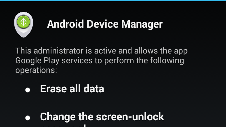 Android Device Manager can now remotely lock your device