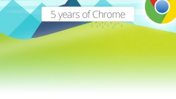 Infographic: the first 5 years of Google Chrome
