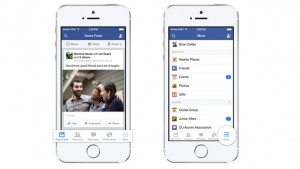 Facebook redesigned for iOS 7, features bottom menu bar