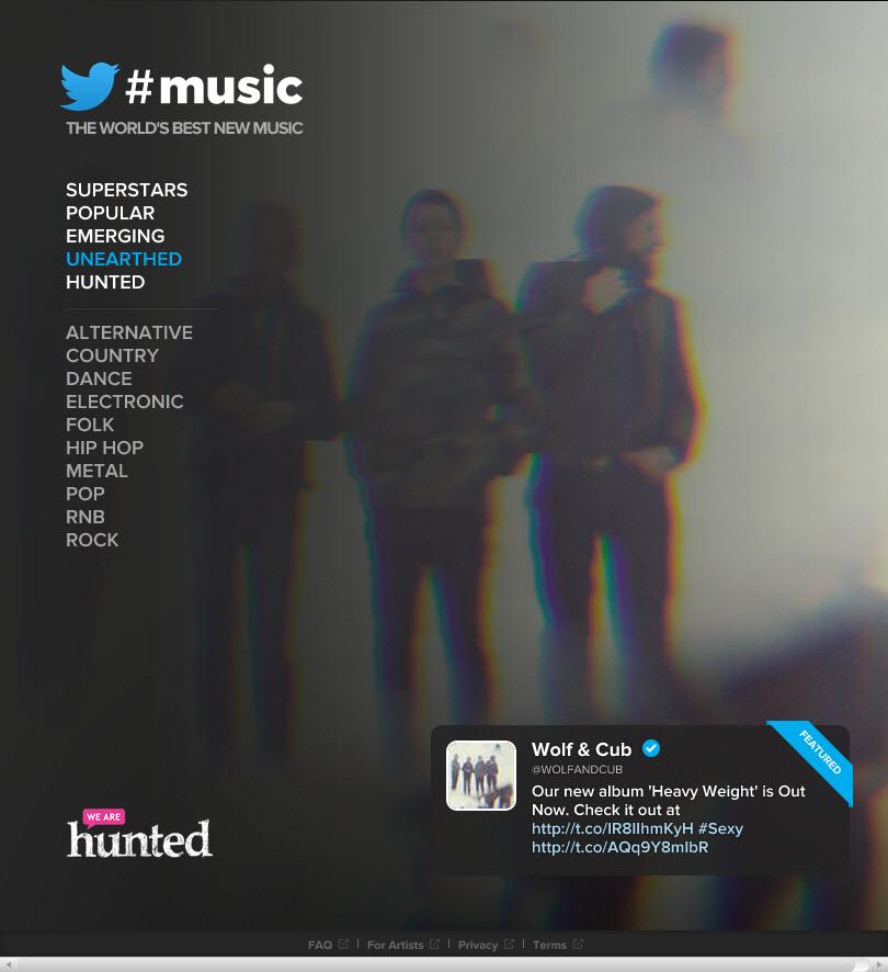 Twitter#Music reproduz músicas populares no Twitter no Spotify