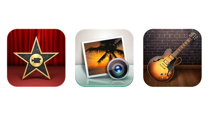 iMovie, iPhoto and GarageBand for iOS receive minor updates