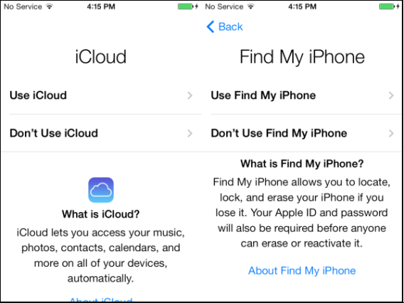 how to setup find my iphone how to set up a new ios 7 iphone or 4088