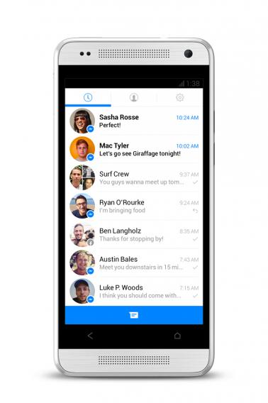Facebook Messenger updated interface