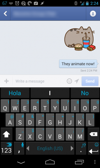 facebook messenger animated stickers