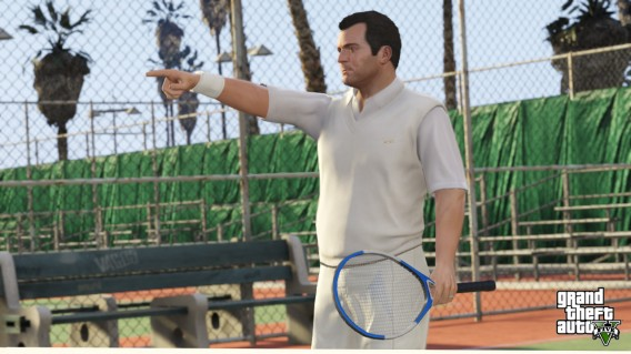 GTA V michael pointing